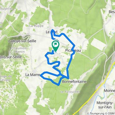 De 1 Route de Le Fied, Fay-en-Montagne à 5 Rue des Fayards, Fay-en-Montagne
