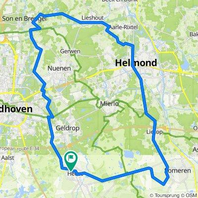 57KM Heeze - breugel - gerwen - helmond