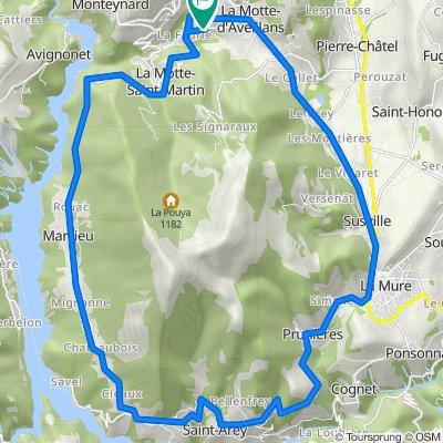 Route from Route du Grand Pré 15, La Motte-d'Aveillans