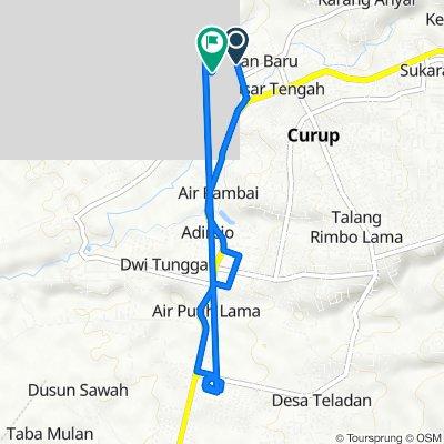 Jalan Curup - Lebong to Jalan D.I. Panjaitan 17, Curup