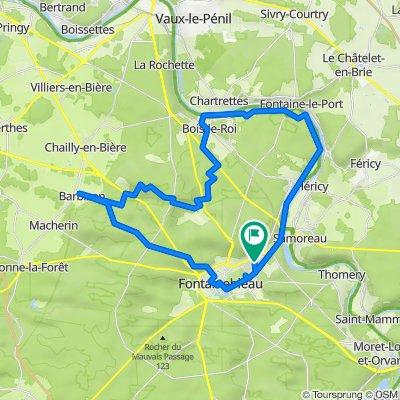 De Fontainebleauà Barbizon, entre Seine et forêt à vélo