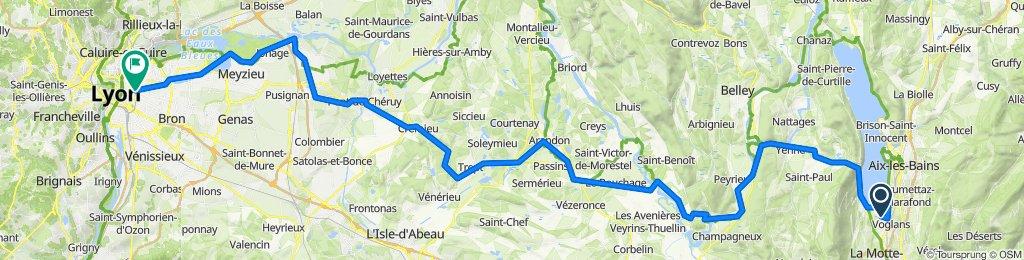 1. Etape 4 Voglans - Lyon