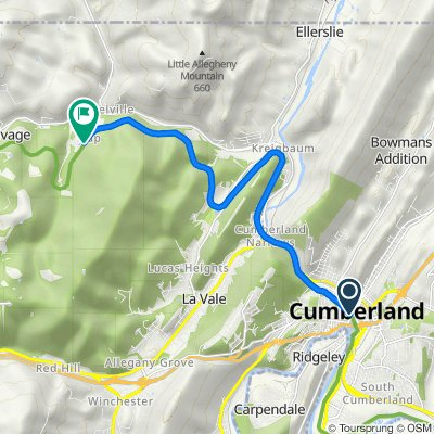 Cumberland to Lap along C&O trail