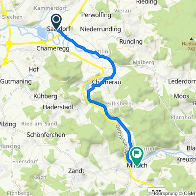 Satzdorf 4, Runding nach Höhenrieder Straße 1, Miltach