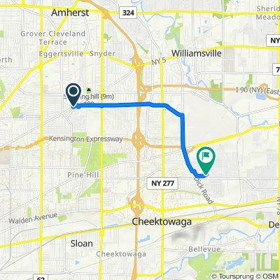 1597 Kensington Ave, Buffalo to 2122 George Urban Blvd, Depew
