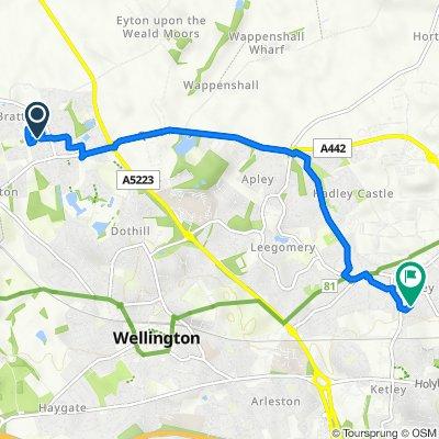 8 Gainsborough Way, Telford to 45 Pool Meadow, Telford