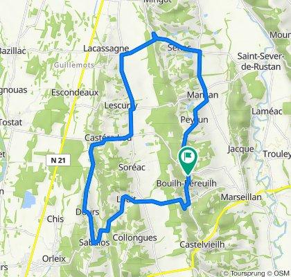 De 8 Route des Crêtes, Bouilh-Péreuilh à 3 Route des Crêtes, Bouilh-Péreuilh