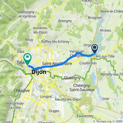 D70, Arc-sur-Tille to 114 Rue de Talant, Dijon