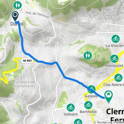 De 5 Impasse des Voûtes, Durtol à 29 Rue Gabriel Péri, Clermont-Ferrand