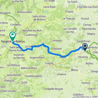 De Monjouvin, Illiers-Combray à Place Saint Pol 30, Nogent-le-Rotrou