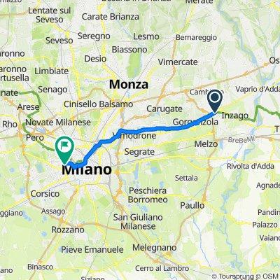 Da Via Alzaia Martesana, Bellinzago Lombardo a Via Domenichino,Milano