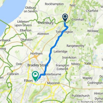 93–98 Brinkmarsh Lane, Falfield, Wotton-Under-Edge to New Road, Stoke Gifford, Bristol