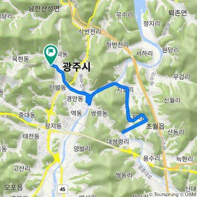 Mokhyeon-dong 8, Gwangju-si to Mokhyeon-dong 165, Gwangju-si