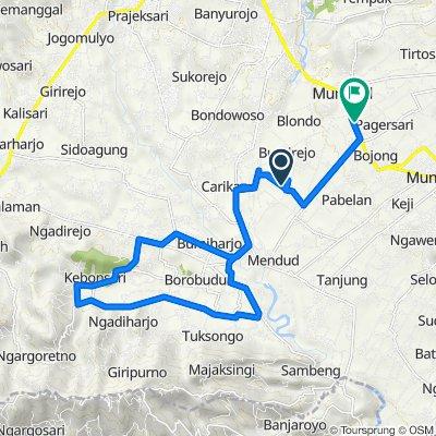 Unnamed Road, Mungkid to Jalan Magelang - Yogyakarta KM 11, Mungkid