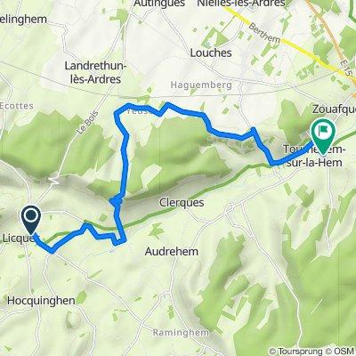 Day 5 from Licques to Tournehem-sur-la-Hem