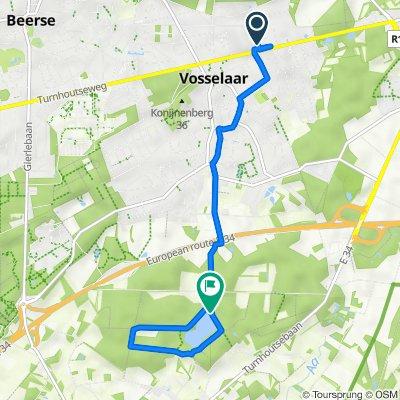 Route from Antwerpsesteenweg 42, Vosselaer