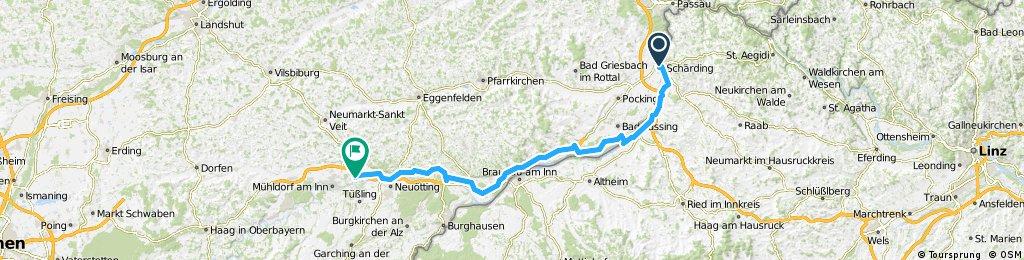1999 - Inn-Tour - 2. Tag - Schärding - Töging am Inn