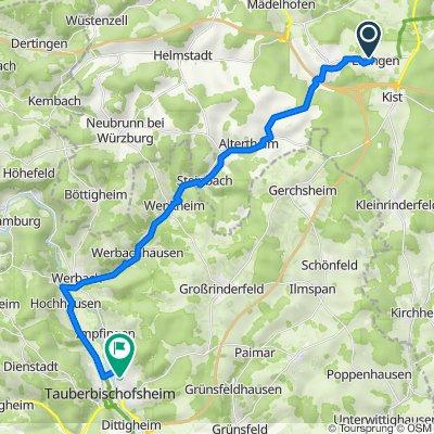Wiesengrundweg 10–14, Eisingen nach Kapellenstraße 21, Tauberbischofsheim