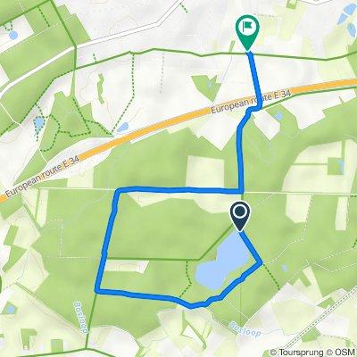 Route to Rijdtstraat 60, Vosselaer