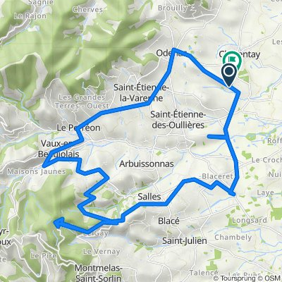 De Route de la Garenne, Charentay à Garanche, Charentay