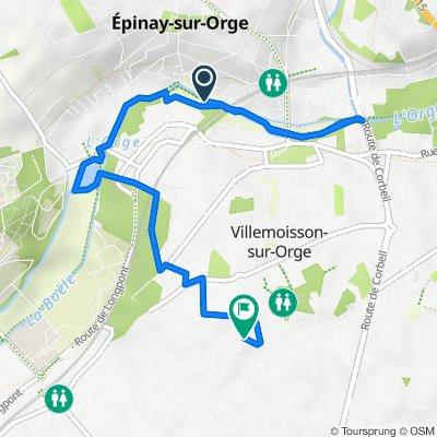 De 26 Voie des Prés, Villemoisson-sur-Orge à 8 Avenue de Montlhéry, Villemoisson-sur-Orge