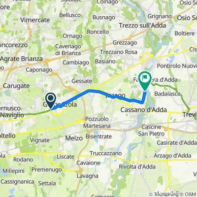 Da Via Lazzaretto 56, Gorgonzola a Via Fara 18, Cassano d'Adda