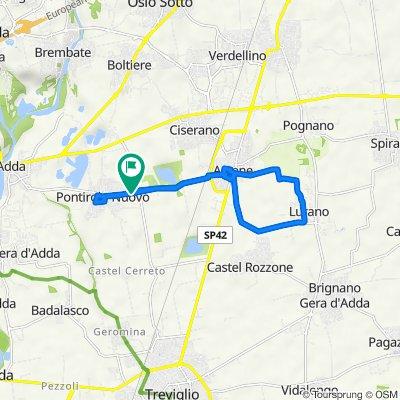 Da Via Giuseppe Mazzini 74, Pontirolo Nuovo a Via Giuseppe Mazzini 74, Pontirolo Nuovo