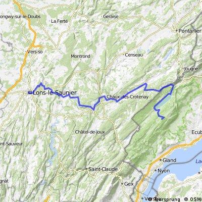 Jura: Lons-Cabane du Grd Cunay