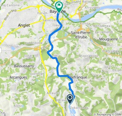 De Chemin de Halage, Ustaritz à 22 Rue Bourgneuf, Bayonne