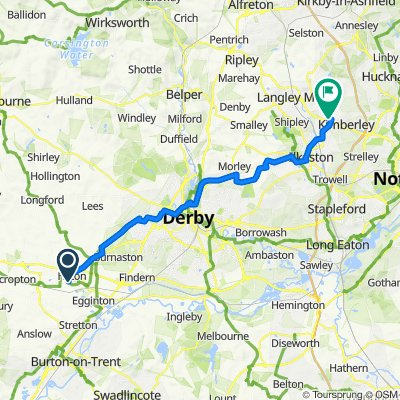 3 Wildhay Brook, Derby to 1B Giltbrook Retail Park, Ikea Way, Nottingham
