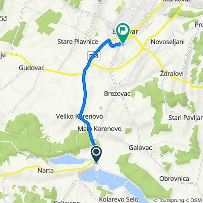 Narta 330 to Ulica Grgura Ninskog 10, Bjelovar