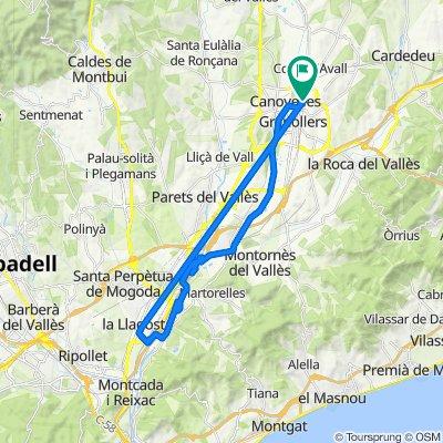 De Carrer Aragó 12, Bellavista a Les Franqueses-Granollers Nord