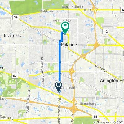 1320 E Algonquin Rd, Schaumburg to 231 E Northwest Hwy, Palatine