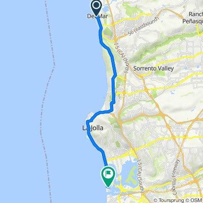 201 15th St, Del Mar to 2859 Bayside Ln, San Diego