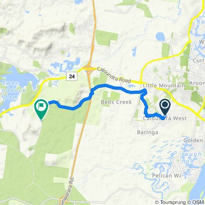 27 Sunshine Crescent, Caloundra West to 112–180 Hapgood Road, Landsborough