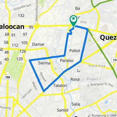 Epifanio Delos Santos Avenue, Quezon City to Lanutan Street, Quezon City