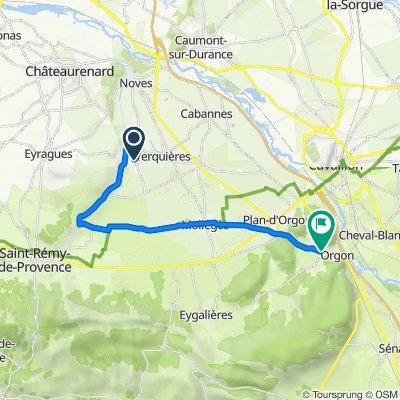 De 995 Route de Noves, Noves à 55 Route de Cavaillon, Orgon