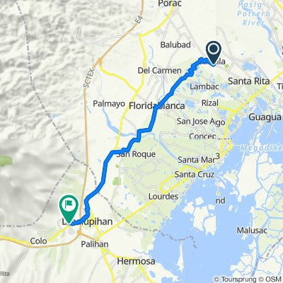 Provincial Road 148, Santa Rita to Olongapo - Bataan Road 653, Dinalupihan