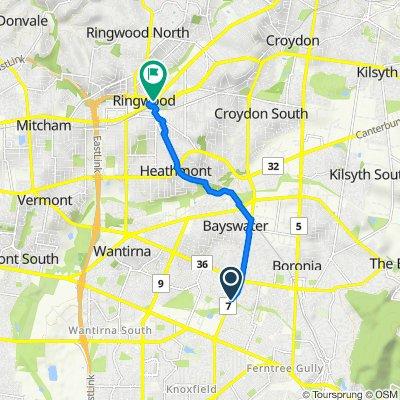 265 Scoresby Road, Boronia to 174 Maroondah Highway, Ringwood