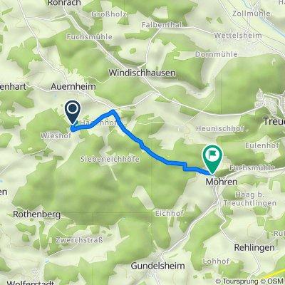 Route nach Schloßstraße 11–15, Treuchtlingen