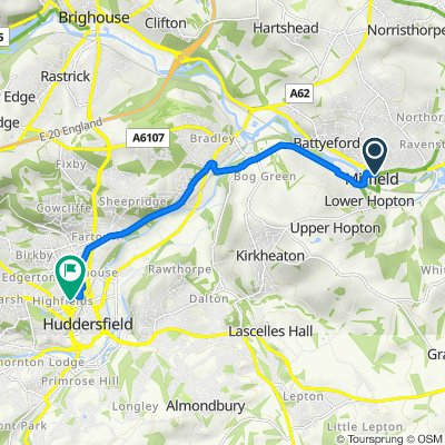 Easthorpe Lodge, Huddersfield Road, Mirfield to Claremont Hall, 30 Belmont St, Huddersfield