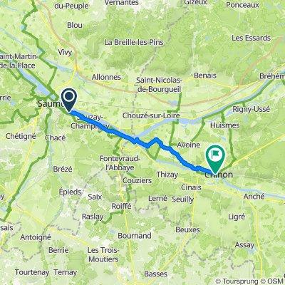 98 Route de Montsoreau, Saumur nach 72 Rue Haute Saint-Maurice, Chinon