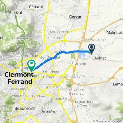 De 4 Rue de Sully, Aulnat à Square du 19 Mars 1962, Clermont-Ferrand