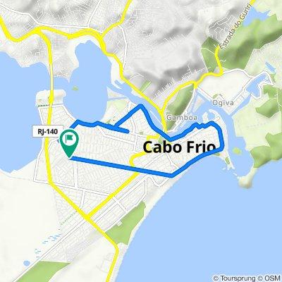 De Rua Alcides de Oliveira, 109, Cabo Frio a Rua Alcides de Oliveira, 109, Cabo Frio