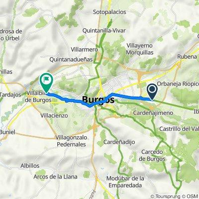 De Pasaje Fresdelval, 525–527, Burgos à Avenida del Prado de los Toros, Villalbilla de Burgos
