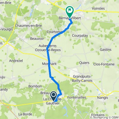 De 50 Faubourg de Nangis, La Chapelle-Gauthier à 22 Avenue du Général Leclerc, Bernay-Vilbert