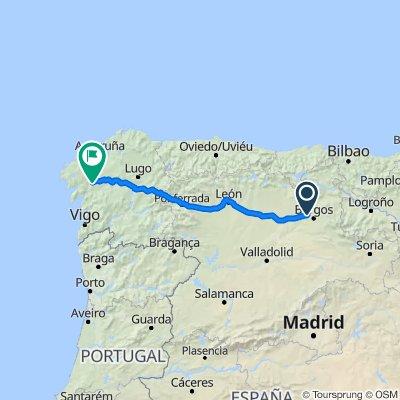 Itinéraire vers Rúa de San Pedro, 31, Santiago de Compostela