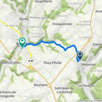 De 573 Rue Émile Zola, Malaunay à 1–5 Rue Antoine Bourdelle, Barentin