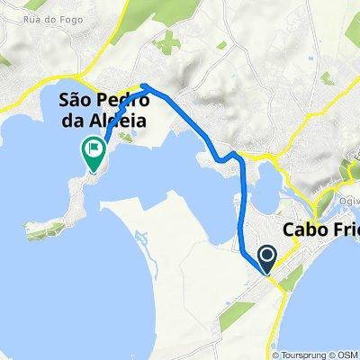 De Rua Elvira Sherman de Araújo, 171, Cabo Frio a Rua dos Nacaratos, 2–136, São Pedro da Aldeia