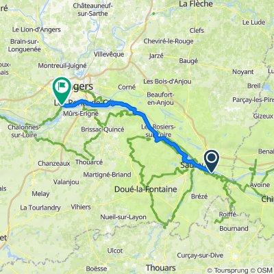 De 52A Rue des Ducs d'Anjou, Souzay-Champigny à D111, Bouchemaine